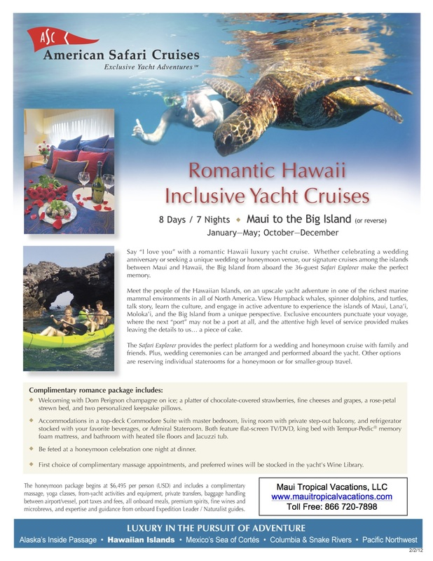 Un-Cruise Maui Tropical Vacations