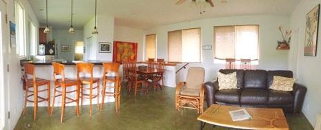 Hale Makai Beach House Living Area