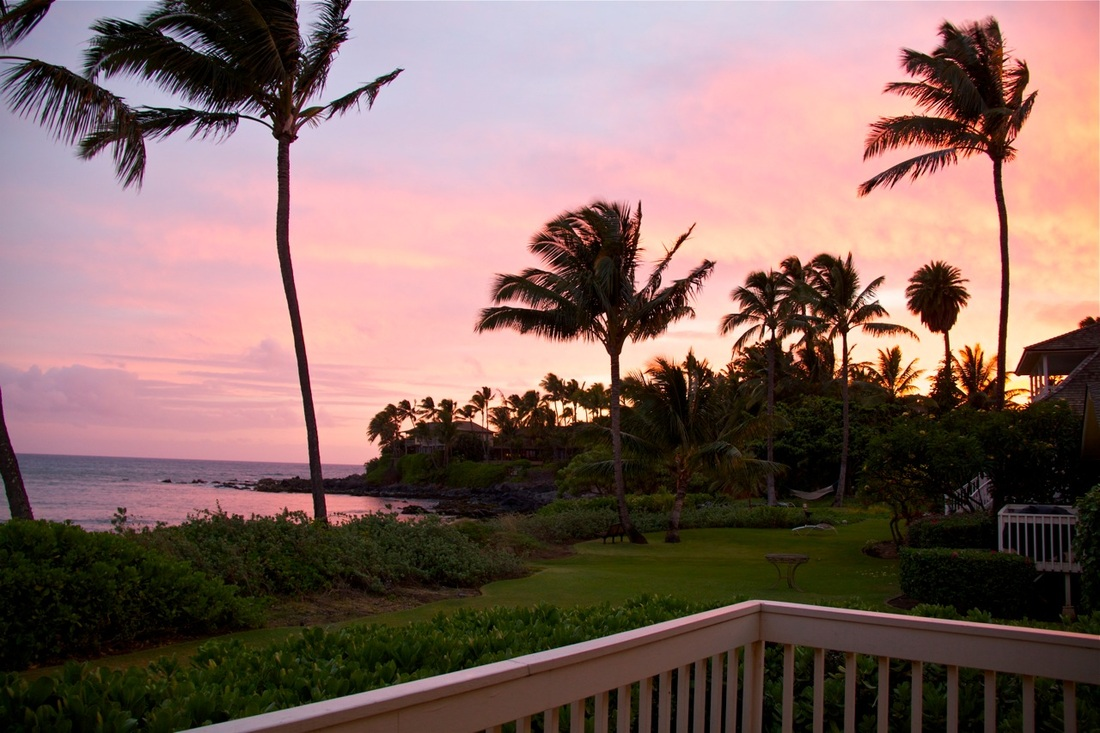 maui tropical vacations, fall sunset