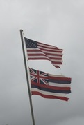 American and Hawaiian Flag